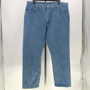 Wrangler relaxed fit mens blue jeans tag 42x30 NWT